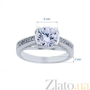 Кольцо на помолвку серебряное с куб. цирконом Всеслава AQA--HR-016
