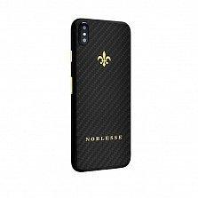 Apple IPhone X Noblesse CARBON EDITION в черном карбоне и желтом золоте