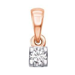 Золотой кулон с бриллиантом 000104158