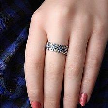 Серебряное кольцо Воздушный Орнамент с фианитами