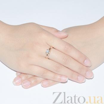 Кольцо с бриллиантом Идиллия R 0598/крас