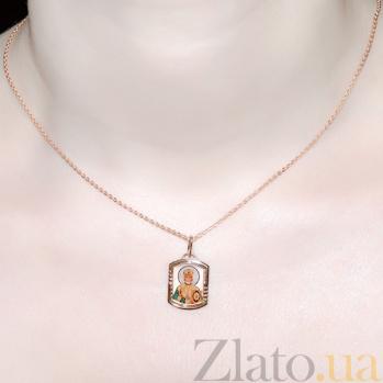 Золотая ладанка Св. Николай SVA--3102195101/Без вставки