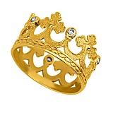 Обручальное кольцо из лимонного золота Царица грез