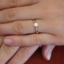 Кольцо из красного золота Мэйфил с цирконием