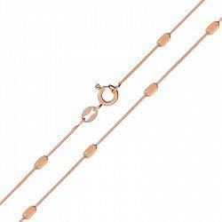 Серебряная цепь в плетении граненый снейк со вставками и позолотой 000138602, 1мм