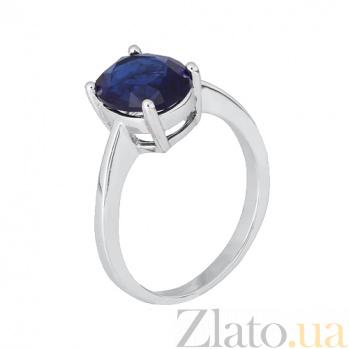 Серебряное кольцо Эдвена с фианитом цвета сапфира SLX--КК2ФС/406