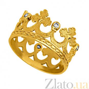 Обручальное кольцо из лимонного золота Царица грез VLT--т1111