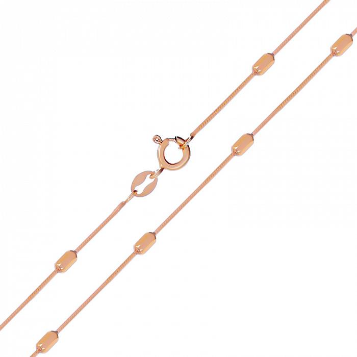 Серебряная цепь  с позолотой 000138602