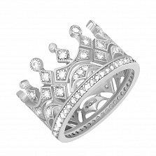 Серебряное кольцо Чувство власти с фианитами