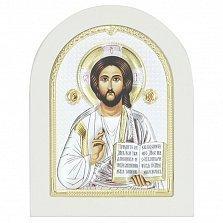 Икона на деревянной основе Христос Спаситель с эмалью и позолотой 13х17