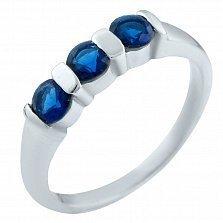 Серебряное кольцо Бонита с сапфирами