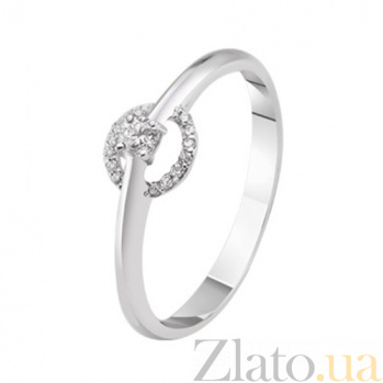 Золотое кольцо с бриллиантами Вилма KBL--К1021/бел/брил