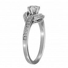 Кольцо из белого золота Клименсия с бриллиантами