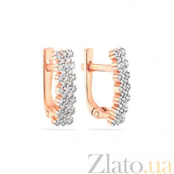 Золотые серьги с фианитами Адриана SUF--110156