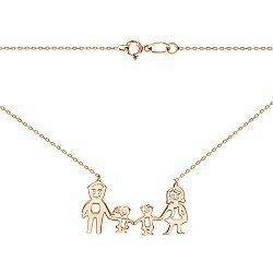 Колье из красного золота Семья 000141463