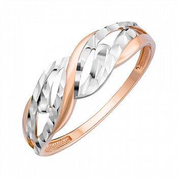Кільце з комбінованого золота 000147958
