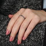 Серебряное кольцо Яркая дорожка с разноцветными фианитами