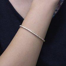 Браслет из красного золота Антея с бриллиантами