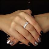 Серебряное кольцо Цветочный код с фианитами