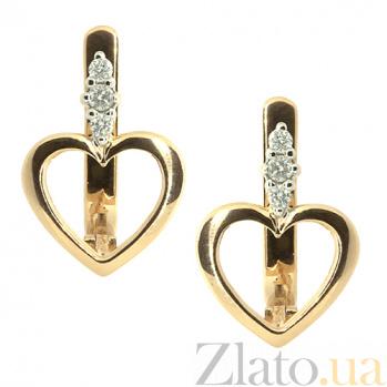 Золотые серьги с бриллиантами Чара ZMX--ED-5510_K