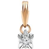 Золотая подвеска с бриллиантами Амели