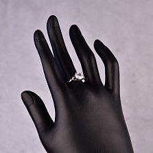Серебряное кольцо Варвара с кристаллом циркония