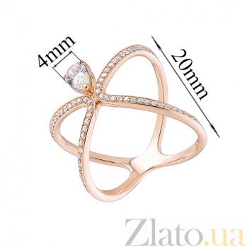 Кольцо из красного золота Диана с цирконием HUF--700088