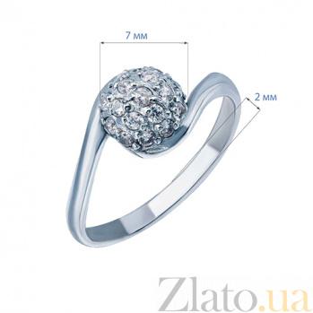 Серебряное кольцо с цирконием Диско AQA--218550042