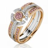 Кольцо Argile из белого и розового золота с бриллиантами и сапфирами