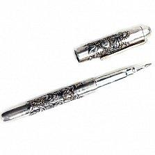 Серебряная ручка с позолотой Подсолнухи