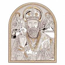 Икона Николай Чудотворец позолоченная