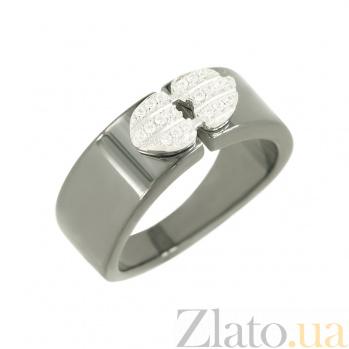 Серебряное кольцо с керамикой и фианитами Агния 3К543-0119