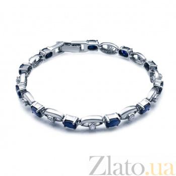 Браслет серебряный с сапфирами и фианитами Дарлайн AQA--B00065S