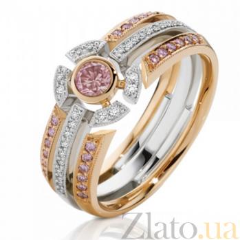 Кольцо Argile из белого и розового золота с бриллиантами и сапфирами R-cjAr-W/R-25s-28d