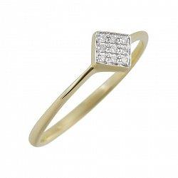 Кольцо из желтого золота Роберта с бриллиантами