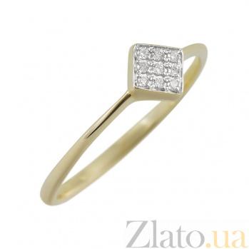 Кольцо из желтого золота Роберта с бриллиантами 000081997