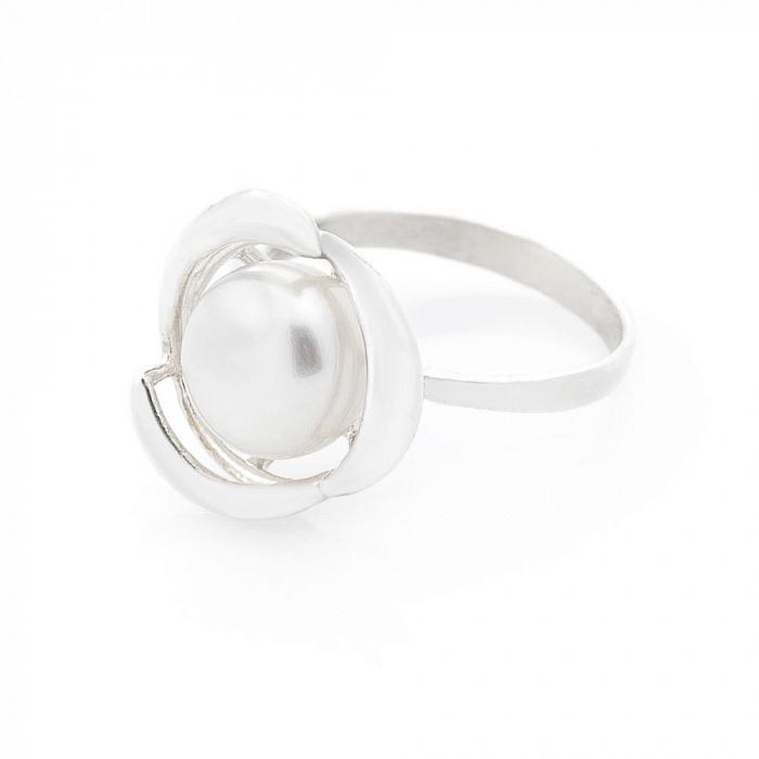 Серебряное кольцо Алевтина с жемчугом 000079534