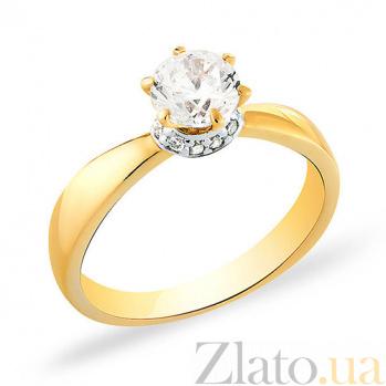 Кольцо из желтого золота с фианитами Желание принцессы SUF--140332ж