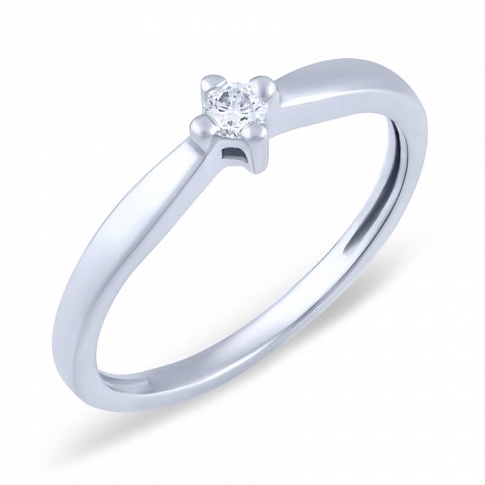 Кольцо из белого золота Элина с бриллиантом 000066154