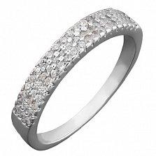 Серебряное кольцо Ольса с фианитами