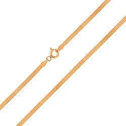 Серебряная цепь с позолотой, 3мм 000027800