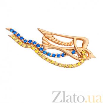 Золотая брошка Птица TNG--660078