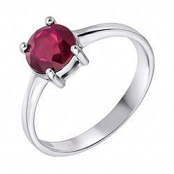 Серебряное кольцо с рубином 000117866