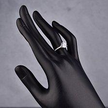Серебряное кольцо Инга с кристаллами циркония