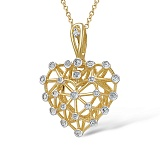 Кулон из желтого золота с бриллиантами Грани любви