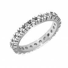 Кольцо из белого золота Сесилия с бриллиантами