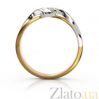Золотое кольцо Феерия в комбинированном цвете с бриллиантом VLA--16060