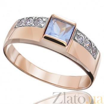 Золотое кольцо Принцесса с цирконием EDM--КД025Г