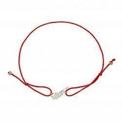 Браслет из красной шелковой нити и золота 000135624