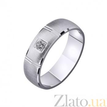Золотое обручальное кольцо Наша история любви с фианитом TRF--4221093
